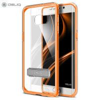 Cover Obliq Naked Shiled per Galaxy S6 Edge+ - Arancione