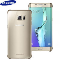 Clear Cover Samsung Galaxy S6 Edge+ Officielle - Or