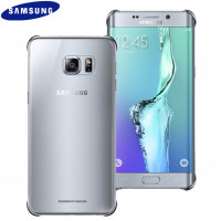 Official Samsung Galaxy S6 Edge+ Clear Cover Skal - Silver