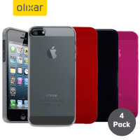 4 Pack FlexiShield iPhone 5S / 5 Cases