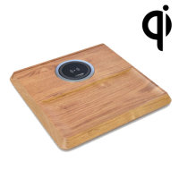 aircharge Wooden Valet Tray with Built-in Wireless Charging Pad
