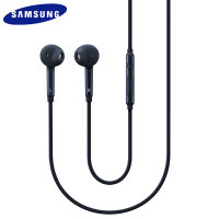 Official Samsung In-Ear Headset with Mic and Controls - Black / Black