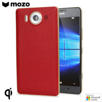 Mozo Microsoft Lumia 950 Wireless Charging Bakskal- Röd