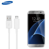 Official Samsung Galaxy S7 Micro USB 1.2m Cable - White