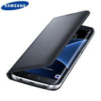 Flip Wallet Cover Officielle Samsung Galaxy S7 Edge - Noire