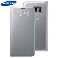 Capa Oficial Samsung LED Flip Wallet para Galaxy S7 - Prateado