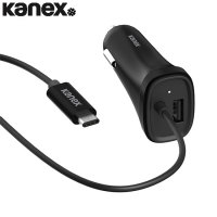Kanex Universal USB-C Car Charger for Smartphones and Tablets - Black