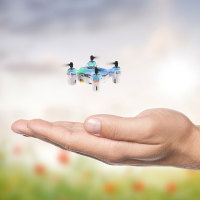 Arcade PICO Pocket Drone with LED Lights & Carrying Controller Case