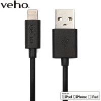 Câble chargement et synchronisation Lightning vers USB Veho MFi – 20cm