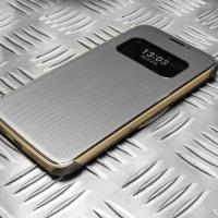 Housse Quick Cover Officielle LG G5 Mesh Folio – Noire Titan