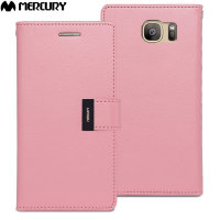 Mercury Rich Diary Samsung Galaxy S7 Premium Plånboksfodral - Rosa