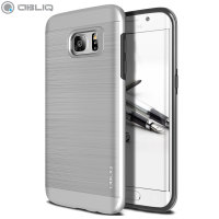 Coque Samsung Galaxy S7 Edge Obliq Slim Meta – Argent Satin