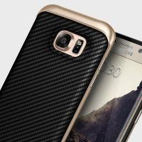 Coque Galaxy S7 Edge Caseology Envoy Series – Fibre Carbone Noir