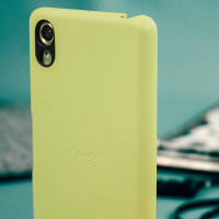 Original Sony Xperia X Protective Cover Case Hülle in Lime Gold