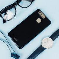 Flexishield Huawei P9 Gel Case - Solid Black