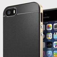 Spigen SGP Neo Hybrid iPhone SE Hülle in Champagne Gold