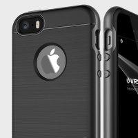 Coque iPhone SE VRS Design High Pro Shield – Couleur Titanium