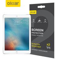 Olixar iPad 9.7 2017 / iPad Air 2 Screen Protector 2-in-1 Pack