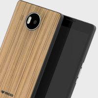 Mozo Microsoft Lumia 950 XL Wireless Charging Back Cover - Zebra Wood