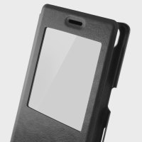 Coque Sony Xperia XA KSIX MFX Easy View Folio Stand – Noire