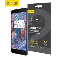 Olixar OnePlus 3T / 3 Film Screen Protector 2-in-1 Pack