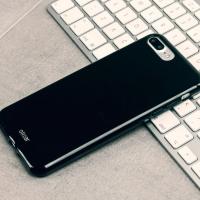 Olixar FlexiShield iPhone 8 Plus / 7 Plus Gel Case - Jet Black
