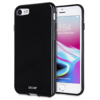 Olixar FlexiShield iPhone 8 Gel Case - Jet Black
