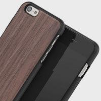 Mozo iPhone 6S / 6 Wood Bakskal - Svart Valnöt