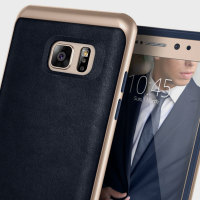 Coque Samsung Galaxy Note 7 Caseology Envoy effet cuir – Bleue marine