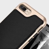 Caseology Envoy Series iPhone 7 Plus Hülle Carbon Fibre Schwarz