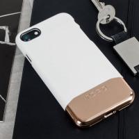 Incipio Edge Chrome iPhone 8 / 7 Case - White Opal / Chrome Rose Gold