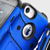 Zizo Bolt Series iPhone 8 / 7 Tough Case & Belt Clip - Blue / Black