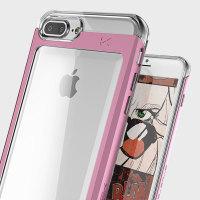 Ghostek Cloak iPhone 7 Plus Aluminium Tough Case - Clear / Pink