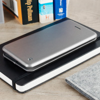Krusell Orsa Universele 4XL Lederlook Folio Case - Zilver