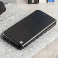 Krusell Orsa Universal 5XL Leather-Style Folio Case - Black