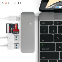Satechi USB-C MacBook 12 inch Hub with USB Charging Ports - Space Grey