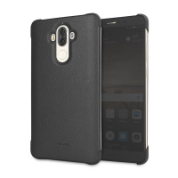 Original Huawei Mate 9 View Case Kunstledertasche in Schwarz