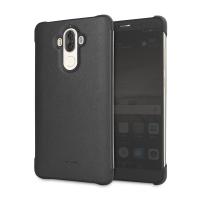 Original Huawei Mate 9 View Case Kunstledertasche in Schwarz