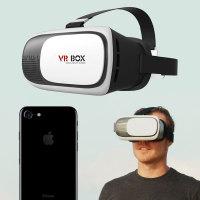 VR BOX V2 Virtual Reality 3D iPhone 7 Headset - White / Black