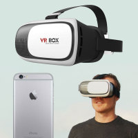 VR BOX V2 Virtual Reality 3D iPhone 6S / 6 Headset - White / Black