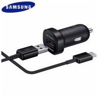 Official Samsung USB-C Adaptive Fast Charger Snabb billaddare - Svart