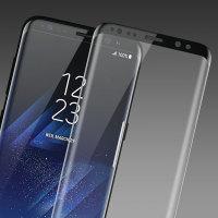 Protector Pantalla Galaxy S8 Olixar Cristal Templado Curvo - Negro