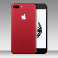 Olixar Red iPhone 7 Plus White to Black Fascia Glass Screen Protector