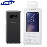 Official Samsung Galaxy S8 Plus Clear Cover Case Screen Protector Pack