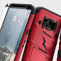 Zizo Bolt Series Samsung Galaxy S8 Tough Case & Belt Clip - Red
