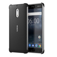 Official Nokia 6 Carbon Fibre Design Hard Case - Black
