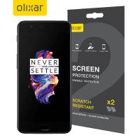 Olixar OnePlus 5 Skärmskydd - Tvåpack