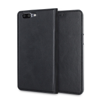 Olixar Genuine Leather OnePlus 5 Executive Plånboksfodral - Svart