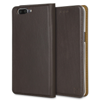 Olixar Genuine Leather OnePlus 5 Executive Wallet Case - Brown