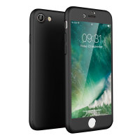 Olixar X-Trio Full Cover iPhone 7S Case - Black